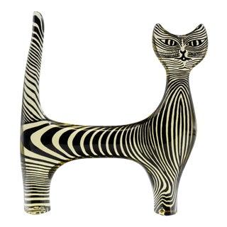 Palatnik Op Art Lucite Cat For Sale