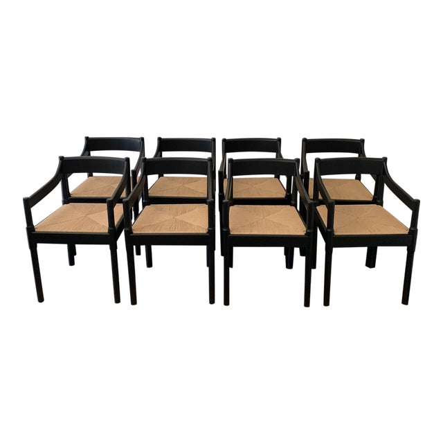 Custom Made 'Charlotte Perriand' Style Chairs - Set of 8 For Sale