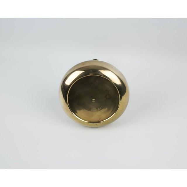 Modern Bulb Shaped Brass Vase For Sale In New York - Image 6 of 8