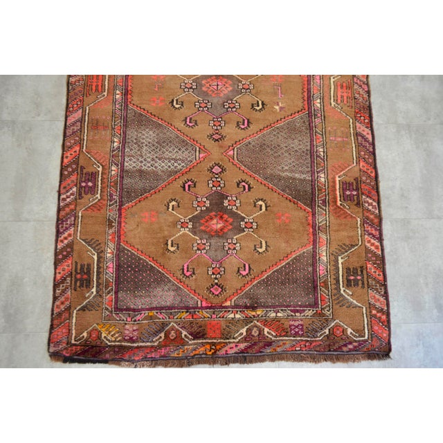 Hand Knotted Natural Colors Tribal Rug - 5′3 ″ x 13′1″ - Image 8 of 10