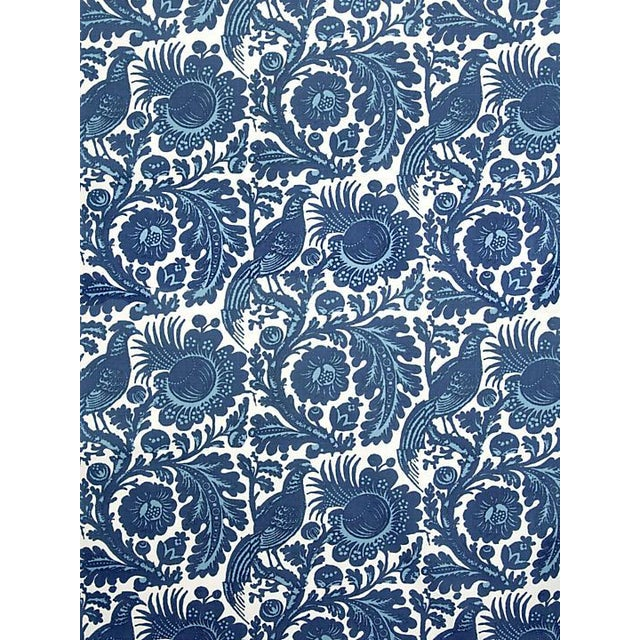 Chinoiserie Scalamandre Resist Print, Light & Dark Blue on White Fabric For Sale - Image 3 of 3