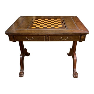 Maitland-Smith Leather Game Table For Sale