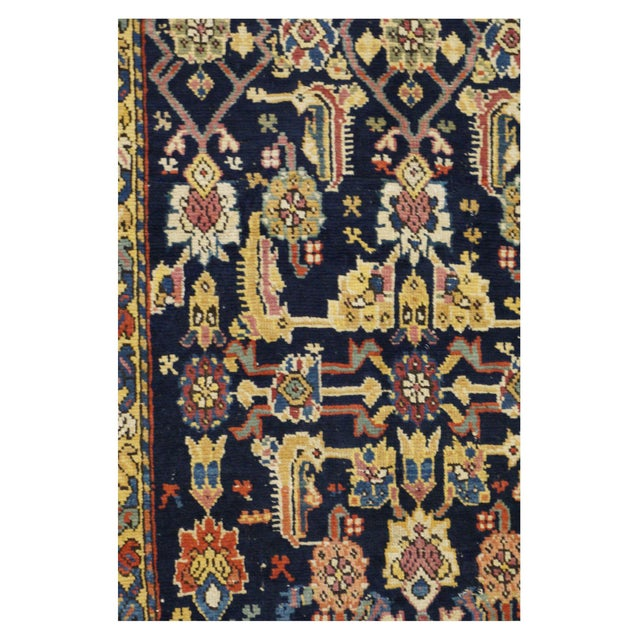 This beautiful Rug is hand made, %100 wool pile. It features a geometric pattern in a vibrant combination of yellow and...