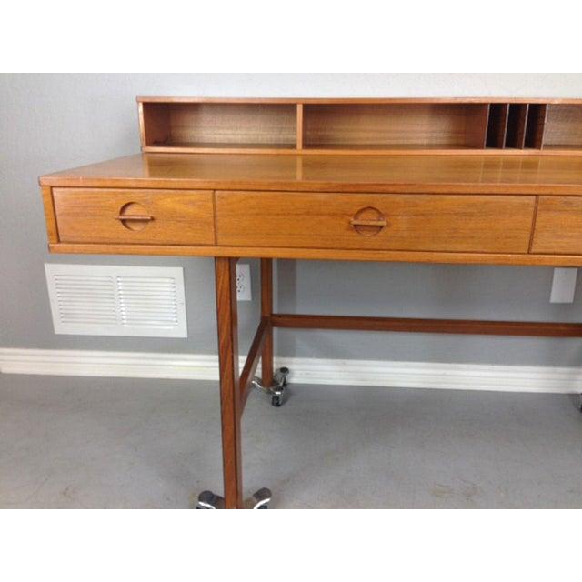 Mid-Century Modern Jens Quistgaard Flip-Top Console Desk in Teak For Sale - Image 3 of 9