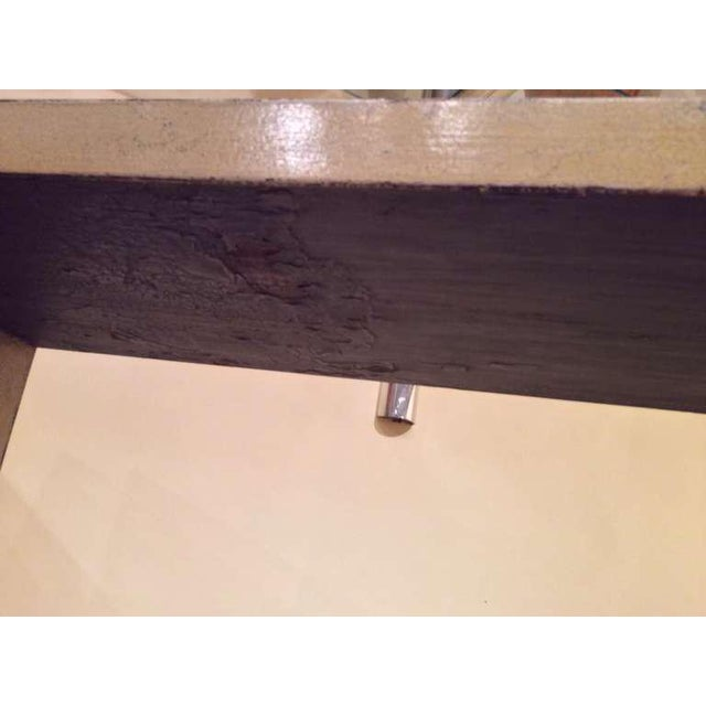 Crackle Glaze Console For Sale In Palm Springs - Image 6 of 9