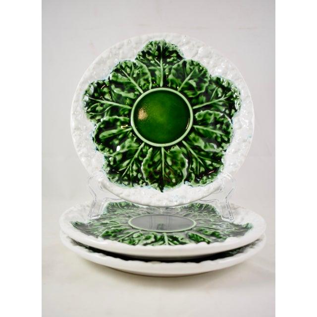 Mid-Century Modern Bordallo Pinheiro C. Rainha Portuguese Cauliflower Plate For Sale - Image 3 of 9