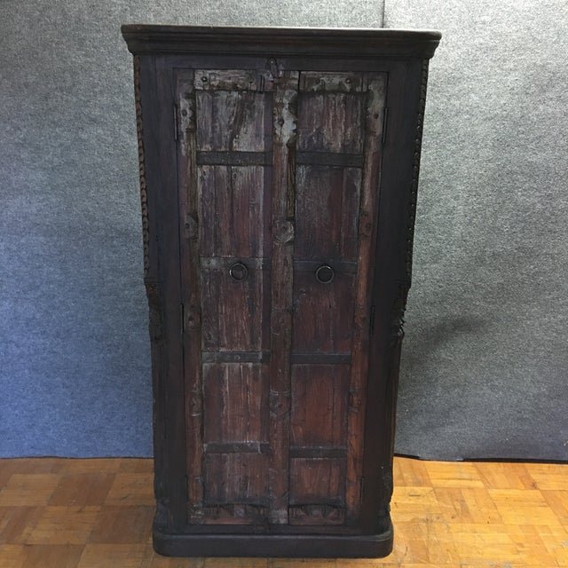 Handcrafted Tall Wooden Armoire by Buena Vista - Image 3 of 11