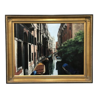 "Cynthia Leung Oil on Canvas ""Early Morning in Venice"" For Sale"