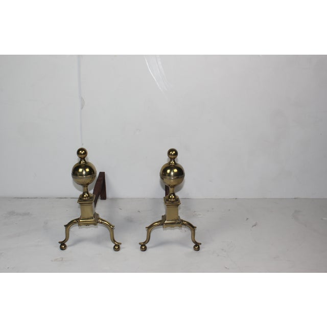 19th-C English Andirons - A Pair - Image 2 of 4