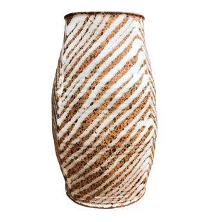 """Mid-Century Studio Pottery """"Zebra"""" Vase For Sale"""