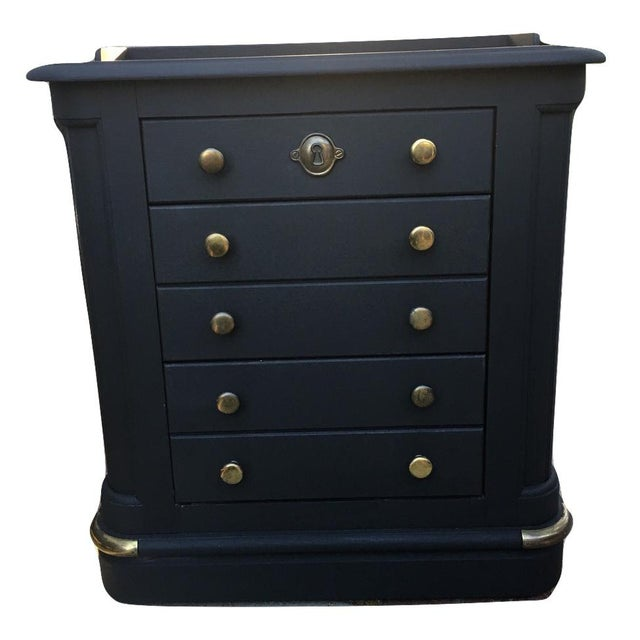 National Mount Airy Black & Gold Beadboard Dresser - Image 10 of 10