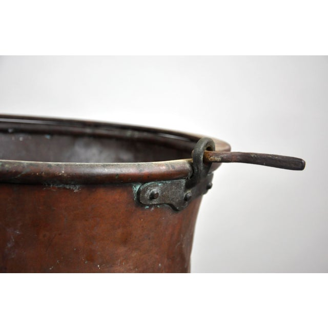 Antique French Copper Cauldron Kettle For Sale - Image 10 of 13