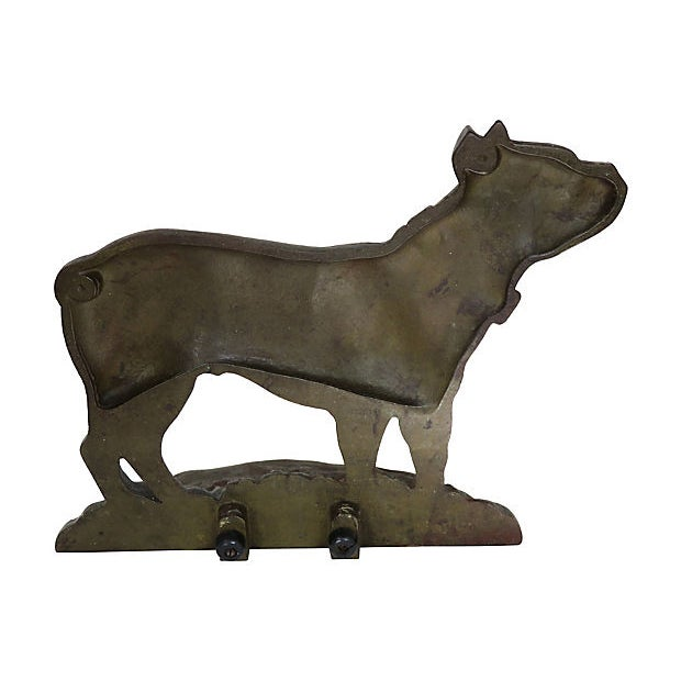 Early 20th Century 1920s Vintage Cast Iron Dog Doorstop For Sale - Image 5 of 6