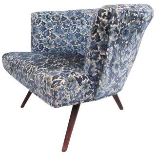 Mid-Century Modern Upholstered Club Chair For Sale