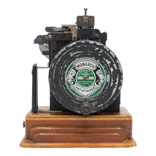 Vintage 1940's Era Monarch Pathfinder Ticket Printing Machine With Type Tray For Sale