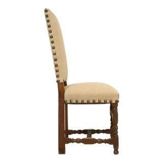 Antique French, Louis XIII Style Side Chair For Sale