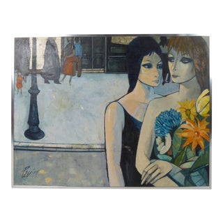 1960s Vintage Charles Levier Painting For Sale