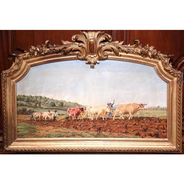 This beautifully executed oil on canvas was painted in France. The painting is in the manner of Rosa Bonheur, and shows...