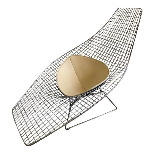 Bertoia for Knoll Asymmetric Chaise For Sale