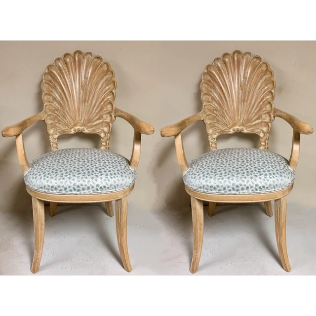 Pair of Shell Backed Chairs in Leopard Upholstery For Sale - Image 12 of 12
