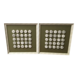 Mounted Italian Intaglios - A Pair For Sale