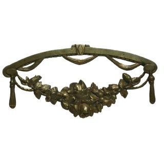 Antique French Bronze Ormolu Swag For Sale