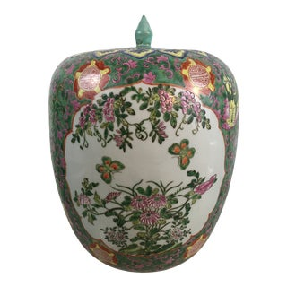 Chinoiserie Ginger Jar For Sale