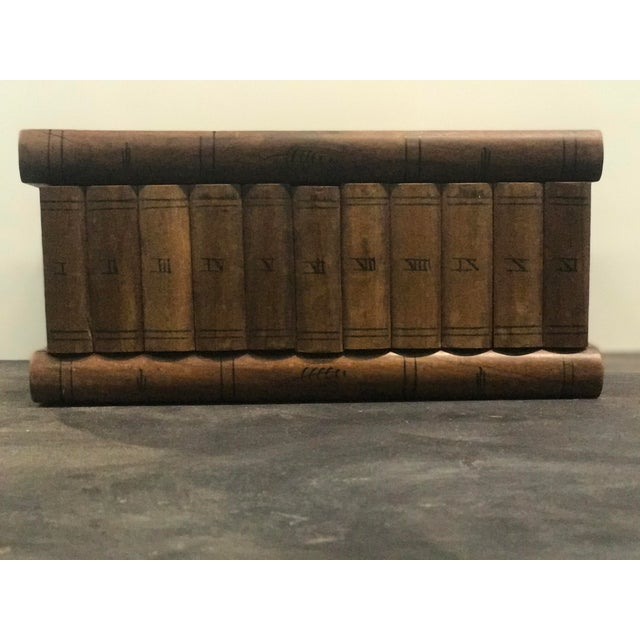 Wooden Faux Book Jewel Box For Sale - Image 4 of 9