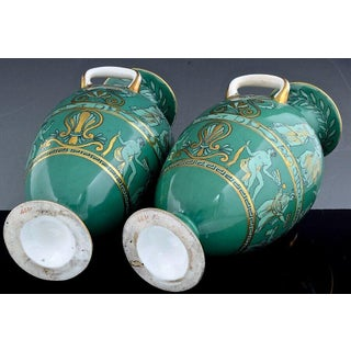 English Porcelain Neoclassical Jade Green-Ground Vases, Preview