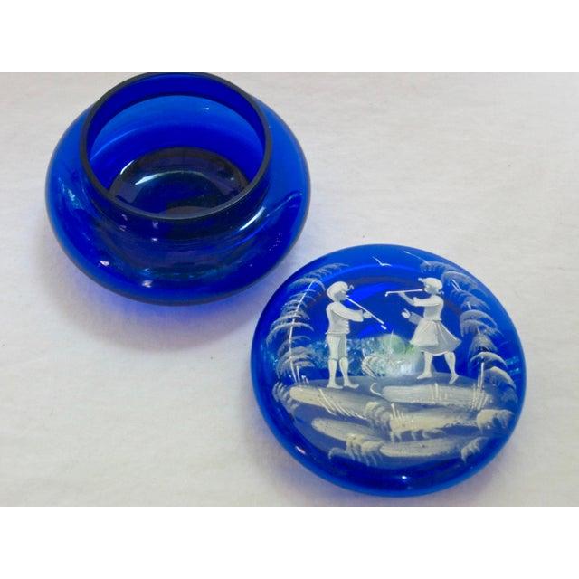 Italian Hand Blown Italian Glass Trinket Box For Sale - Image 3 of 5