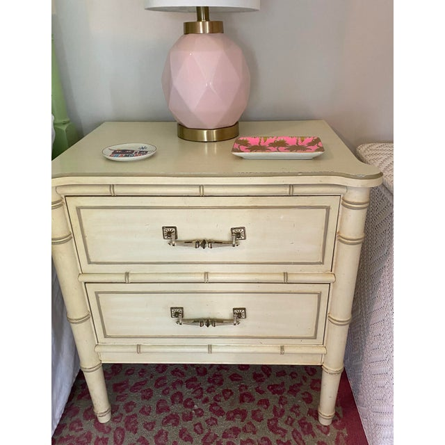 "Henry Link ""Bali Hai"" Two Drawer Nightstands - A Pair For Sale In Tampa - Image 6 of 11"