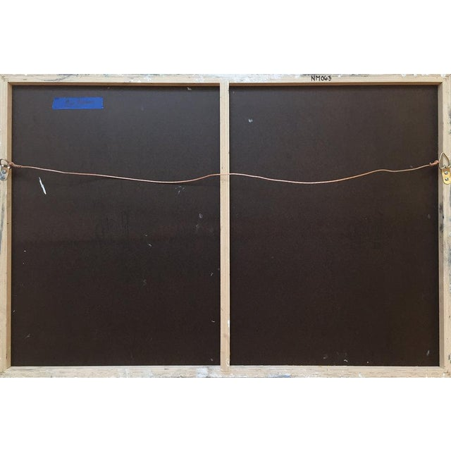 Blue Ned Martin, East River (Horizontal Diptych) Painting, 2018 For Sale - Image 8 of 10