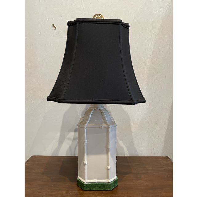 Antique White Chinoiserie Table Lamp For Sale - Image 9 of 9