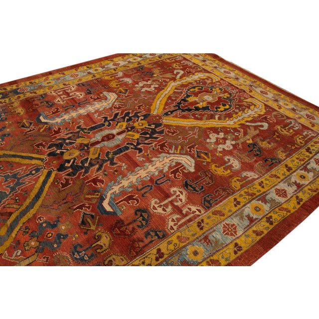 "Textile Vintage Persian Tribal Bakshaish Rug, 7'6"" X 10'5"" For Sale - Image 7 of 10"