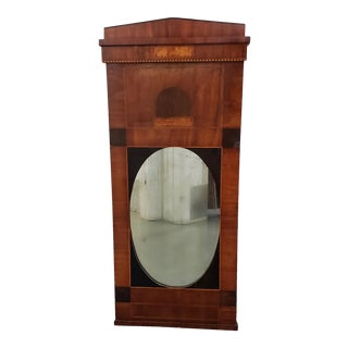 Early 19th Century Walnut & Mahogany Biedermeier Mirror C.1830s For Sale