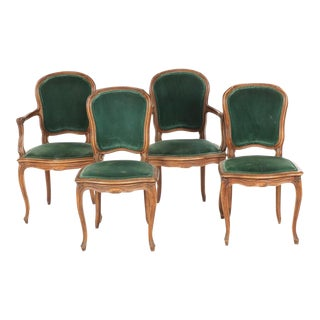 Early 20th Century Antique Louis XV Style Chairs- Set of 4 For Sale