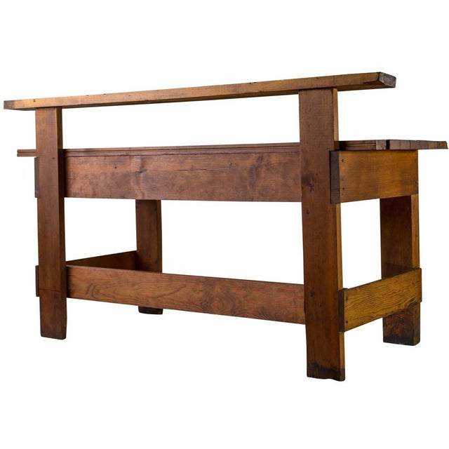 Rustic Carpenter's Workbench Sideboard For Sale - Image 11 of 13