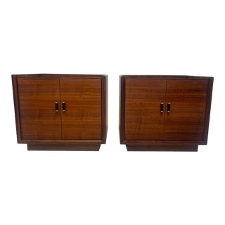 Vintage Robert Baron for Glenn of California Rosewood Nightstands - a Pair For Sale