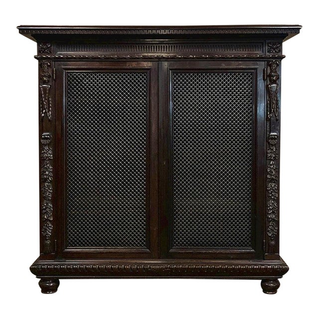 19th Century Italian Neoclassical Walnut Barrister's Bookcase For Sale