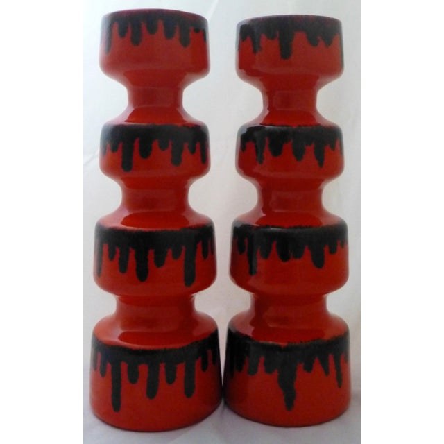 Dayle Rushall California Studio Art Pottery Vases - A Pair For Sale - Image 10 of 10