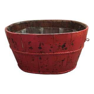 Antique Asian Red Wooden Container
