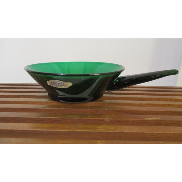 Winslow Anderson Blenko Green Art Glass Dish - Image 8 of 9