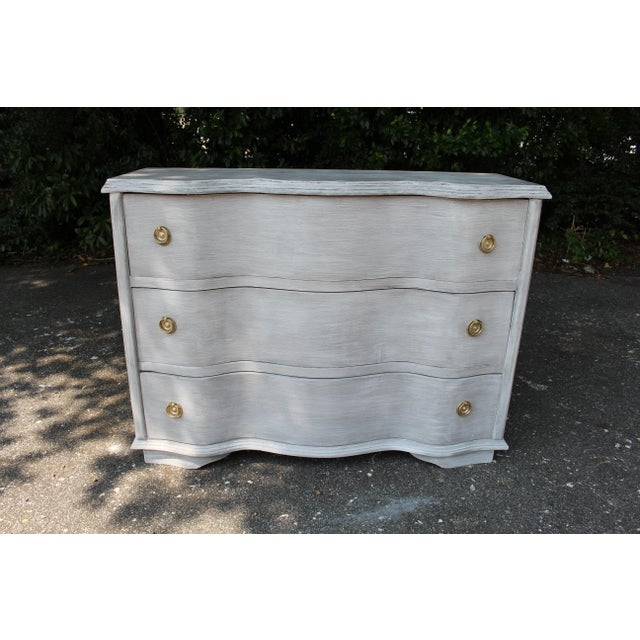 Vintage Mid-Century French Country Chest of Drawers For Sale - Image 9 of 9