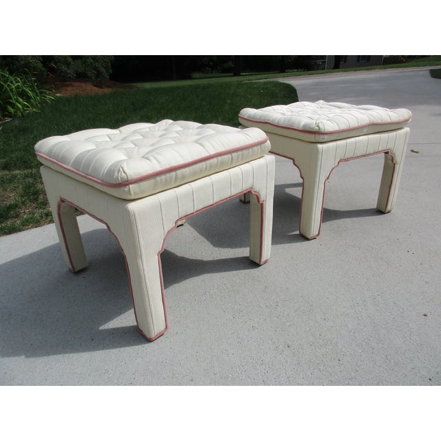 Parsons Style Stools or Footstools -A Pair - Image 10 of 10