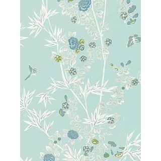 Sample, Scalamandre Jardin De Chine, Ciel Fabric For Sale