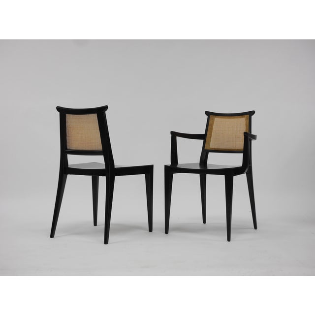 Twelve Asian Dining Chairs by Edward Wormley for Dunbar For Sale - Image 11 of 11