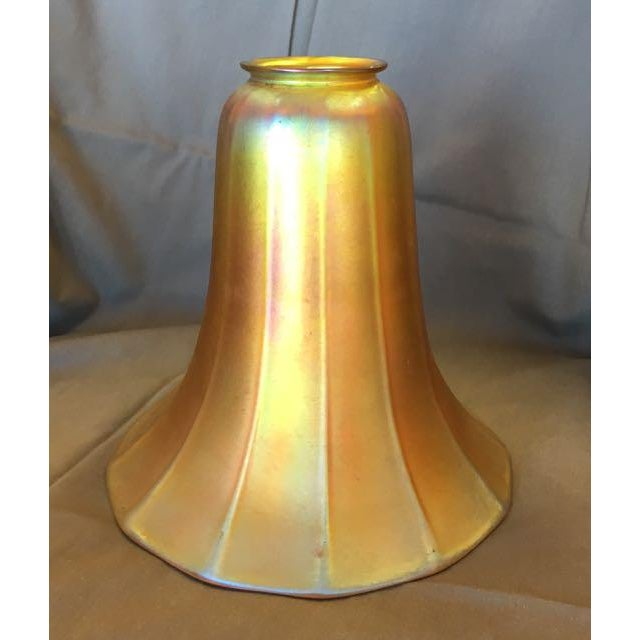 Antique Steuben Aurene Glass Shade For Sale - Image 5 of 8