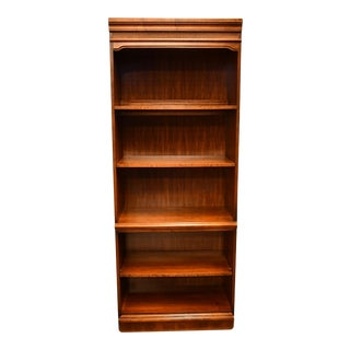 "Hooker Walnut Italian Provincial 30"" Bookcase Wall Unit For Sale"