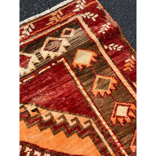 "1950's Vintage Turkish Anatolian Runner Rug - 3'2""x11'2"" For Sale - Image 11 of 13"