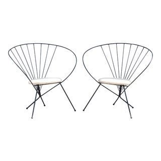 1953 Robert Kasindorf Iron Hoop Chairs - a Pair For Sale